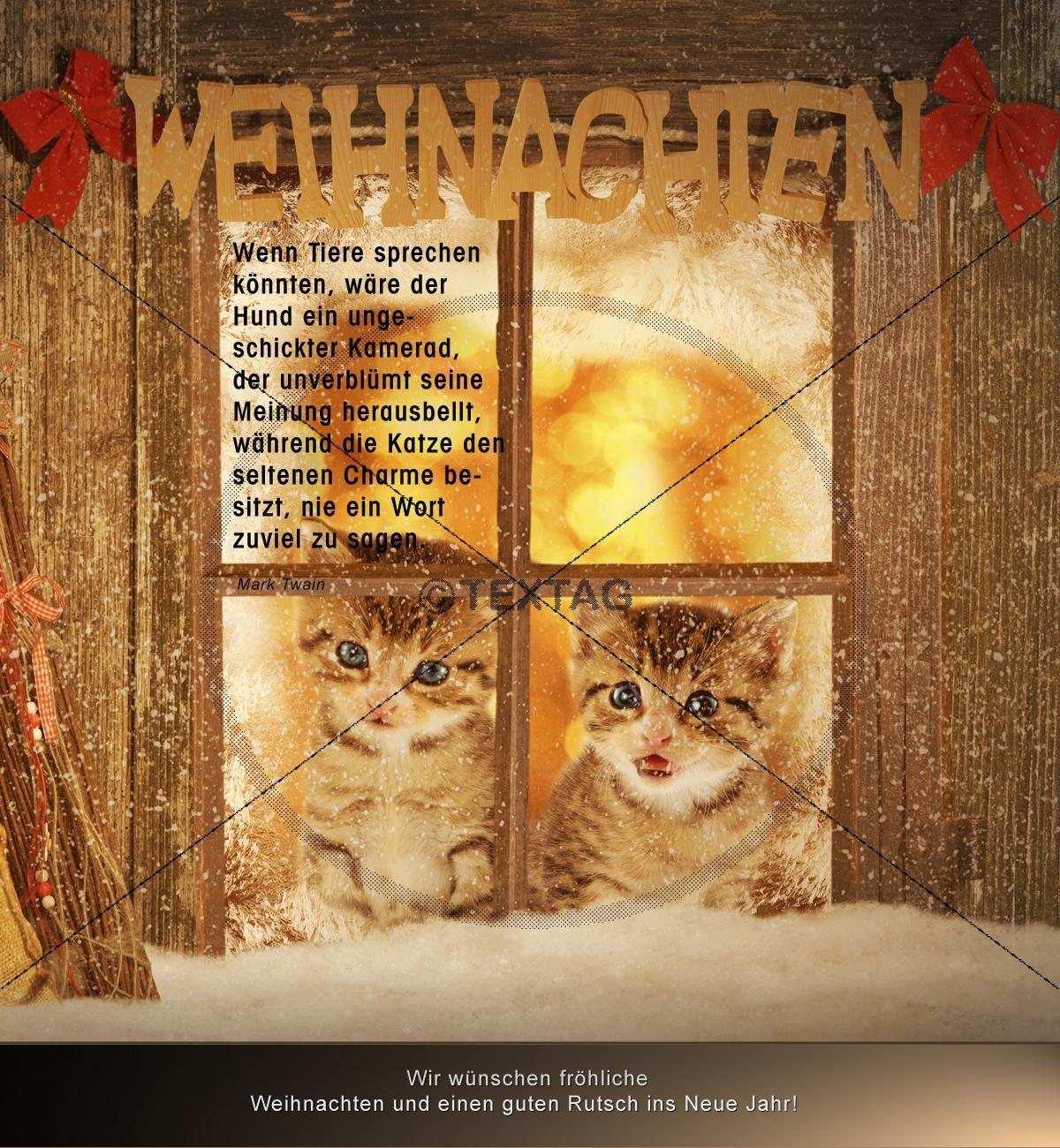 Tierische Weihnachtsgrüße.E Card Tierische Weihnachtsgrüße 0112