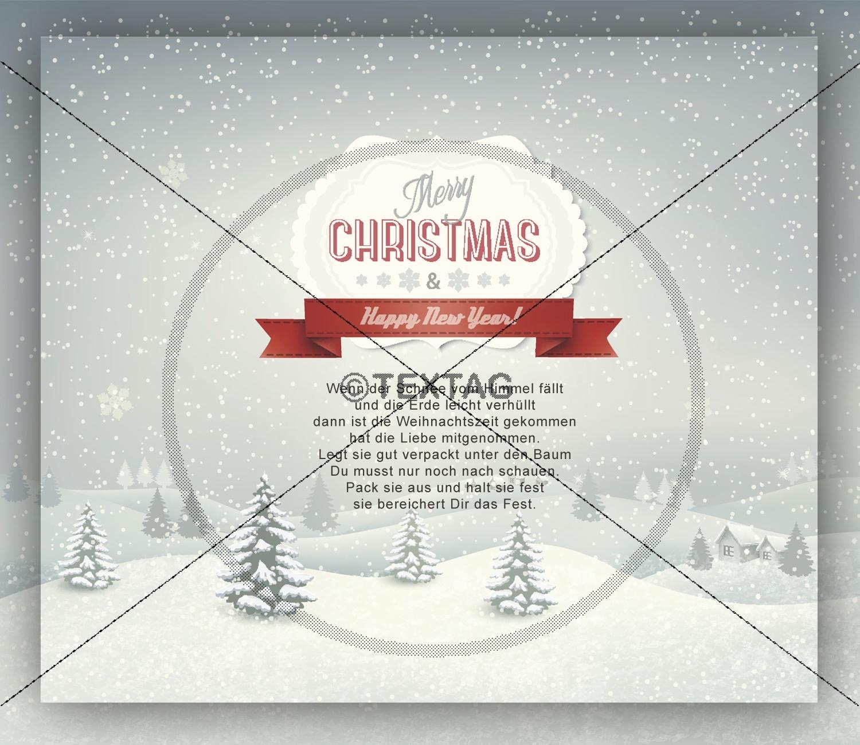 nostalgische weihnachts e card mit spruch ohne werbung. Black Bedroom Furniture Sets. Home Design Ideas