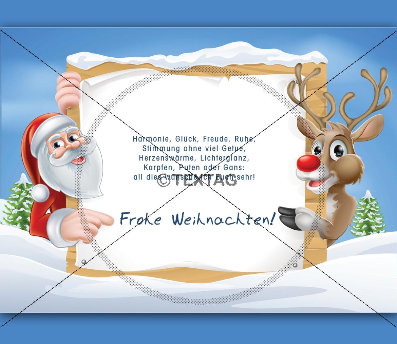 lustige Weihnachts-E-Card mit Spruch, ohne Werbung