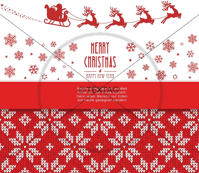 weihnachts e card mit spruch und norwegermuster. Black Bedroom Furniture Sets. Home Design Ideas