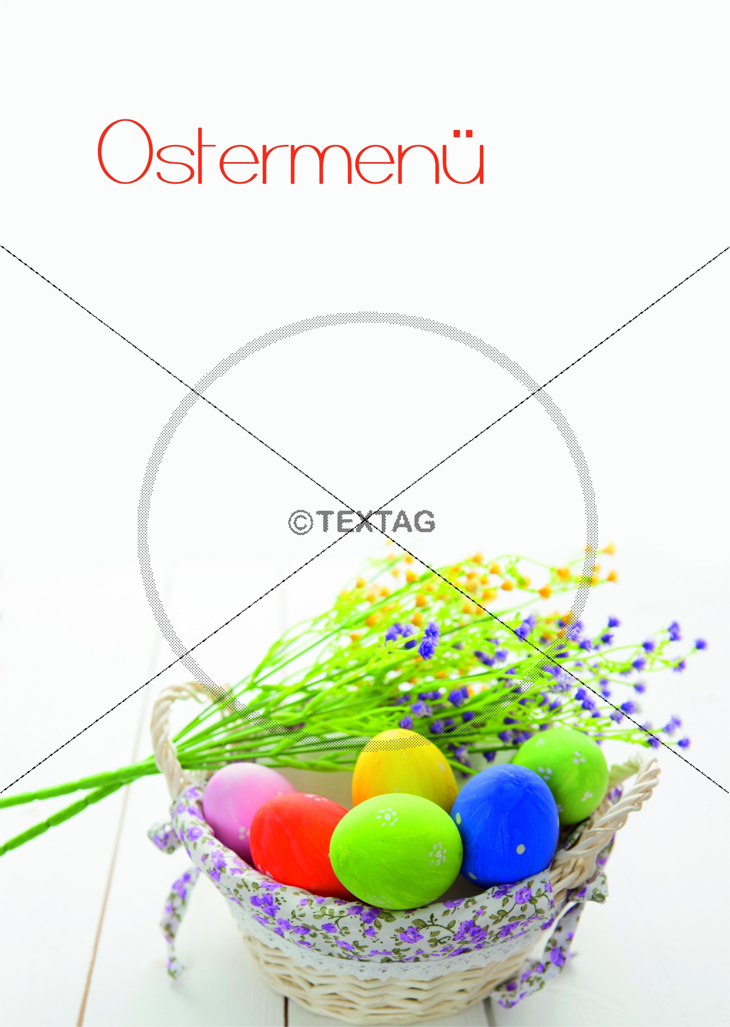 design vorlage f252r speisekarten deckblatt ostermen252 din a4