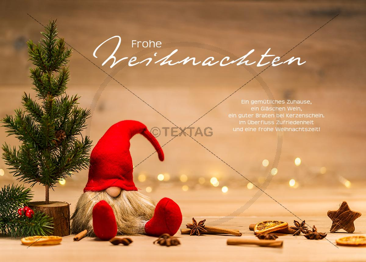 weihnachts ecard mit christbaum und weihnachtsmann ohne. Black Bedroom Furniture Sets. Home Design Ideas