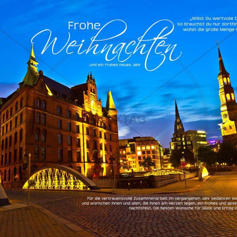 exklusive E-Card Weihnachten in Speicherstadt Hamburg, ohne Werbung (306)