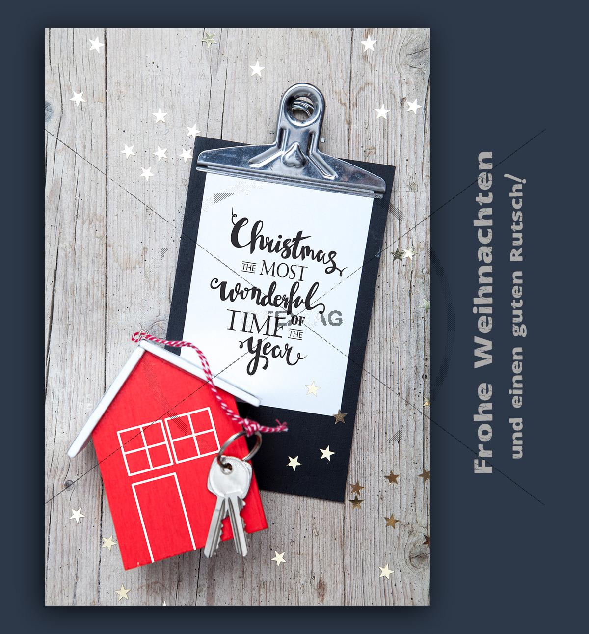Weihnachts e card f r immobilien makler digitale for Makler immobilien