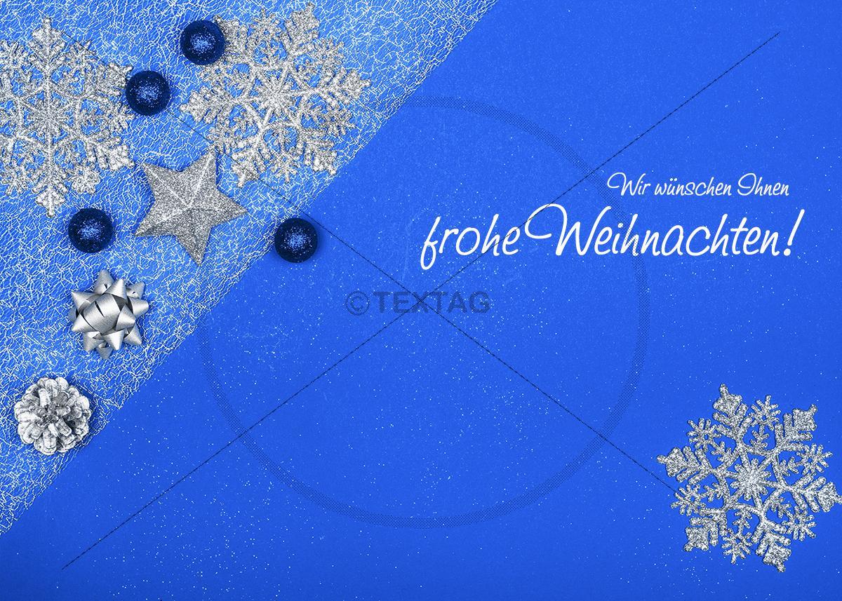 weihnachts ecard mit stern in blau weihnachtsgr e per e. Black Bedroom Furniture Sets. Home Design Ideas
