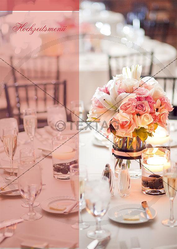 Hochzeitmenükarte