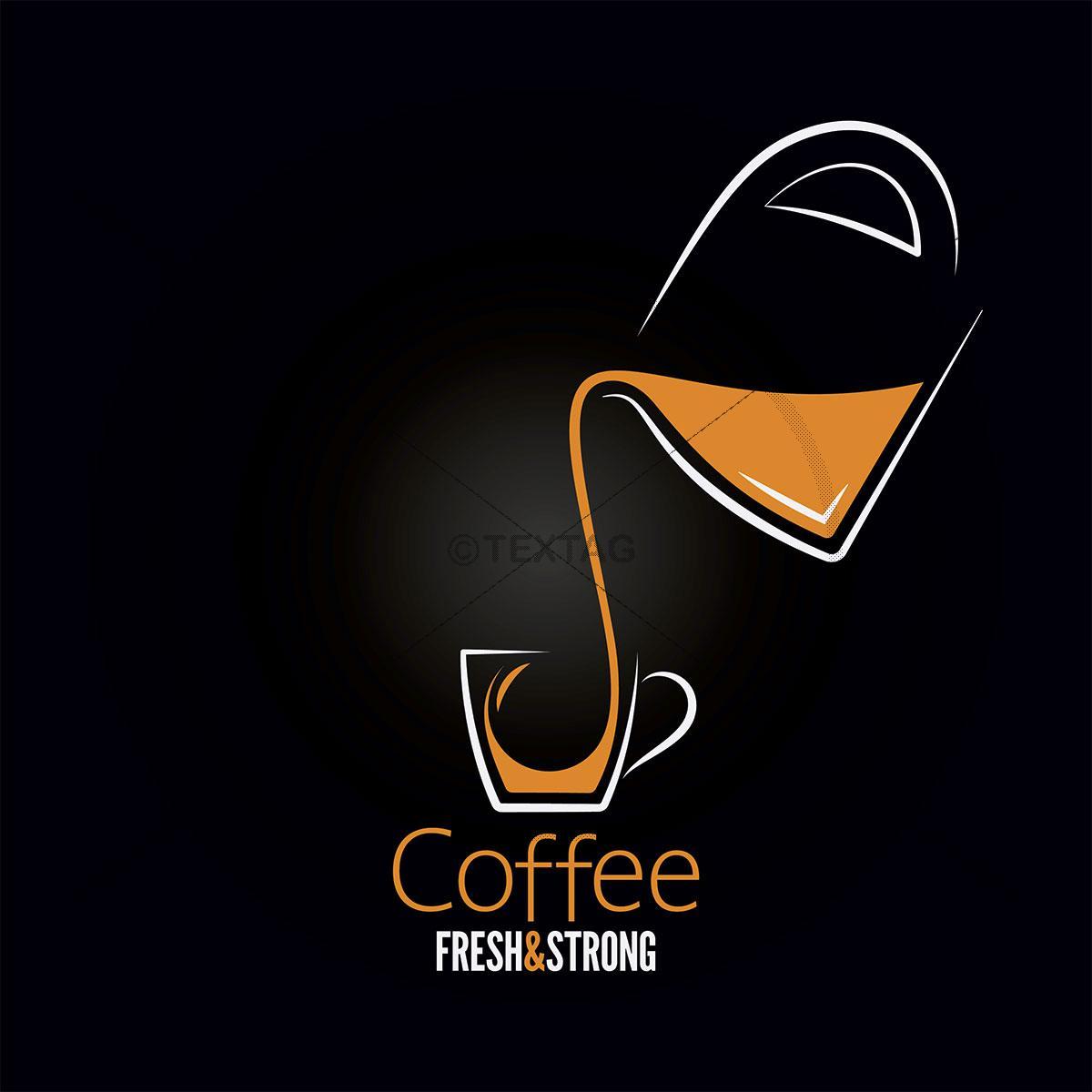Deckblatt: Cafe Getränkekarte Vorlage, 210 x 210 mm selbst drucken
