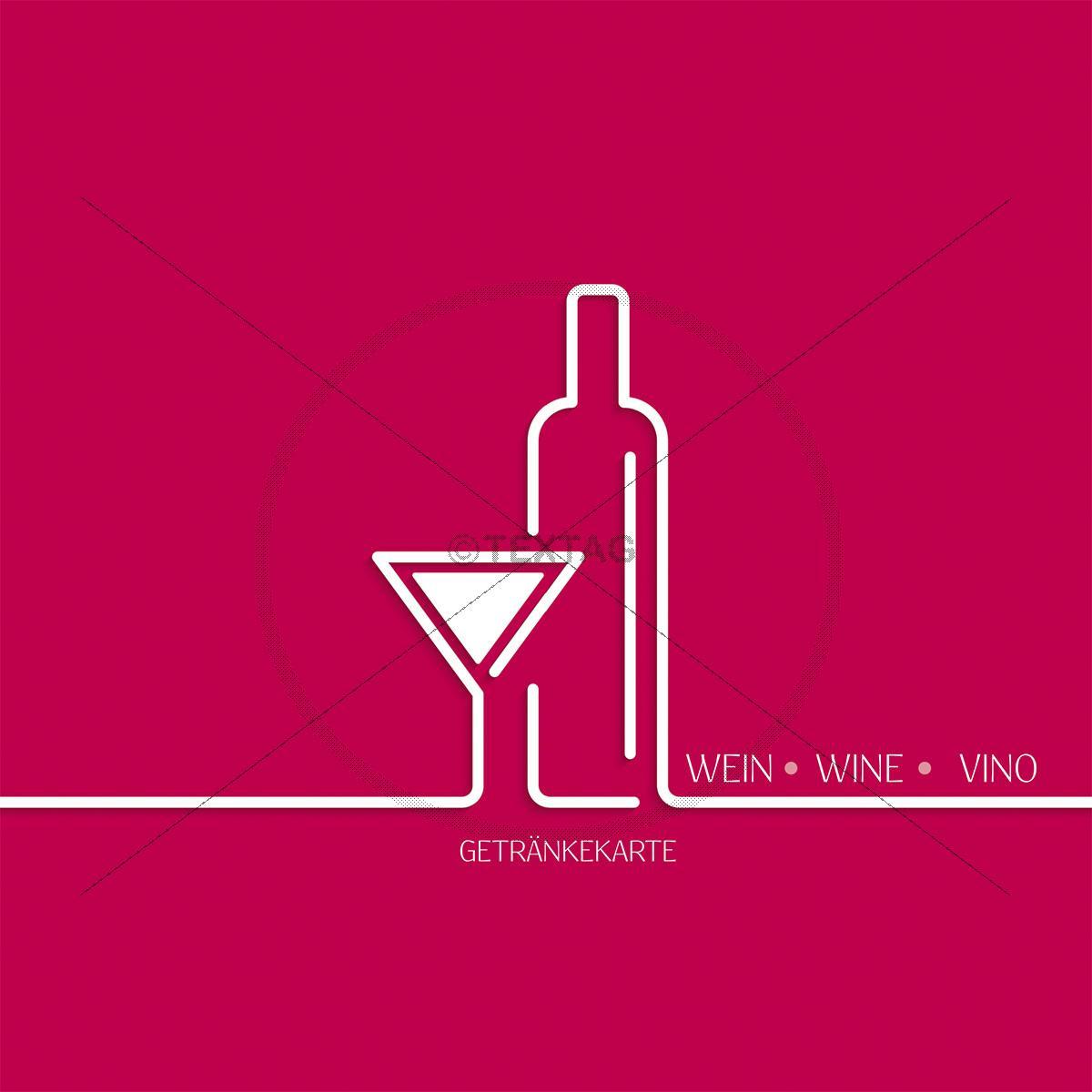 deckblatt weinkarte designvorlage wein wine vino 210 x 210 mm. Black Bedroom Furniture Sets. Home Design Ideas