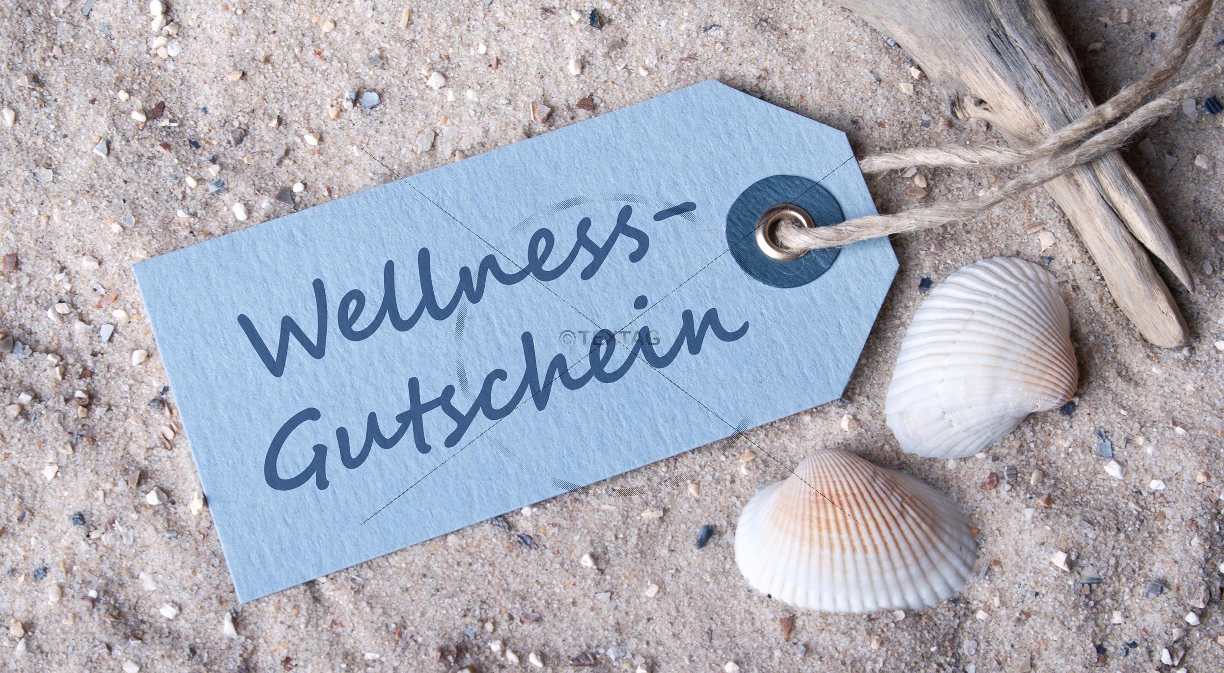 Wellness Geschenkgutschein Design Vorlage inkl. Druck ab 10 Stk.