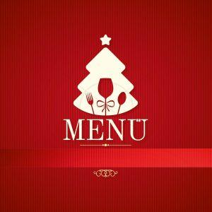 #113 Deckblatt, Speisekarte für Weihnachten, Deckblatt und Innenseiten, Word Vorlage, 210x210-1
