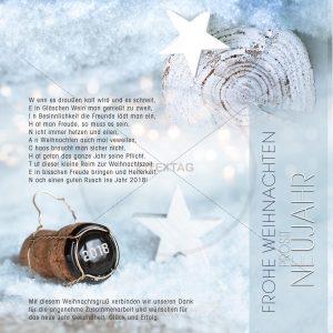 kreative Weihnachtsgrüße geschäftlich - ECard ohne Werbung mit Spruch NSL-2018-00175