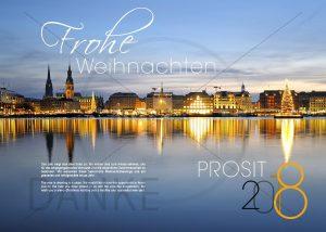 E-Card: Weihnachten in der Hansestadt Hamburg mit Spruch, ohne Werbung NSL-2016-800207