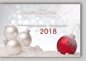 extravagente Weihnachts E-Card mit Spruch in deutsch & englisch NSL-2018-00267