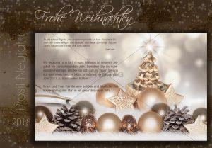 extravagante Weihnachts E-Card in oold,bronze und braun NSL-2018-00270