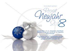 elegante Weihnachtskarte mit Weihnachtskugeln - eCard NSL-2018-00239