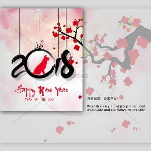 chinesische Neujahrs e-Card für Geschäftspartner. Ohne Werbung (0278)