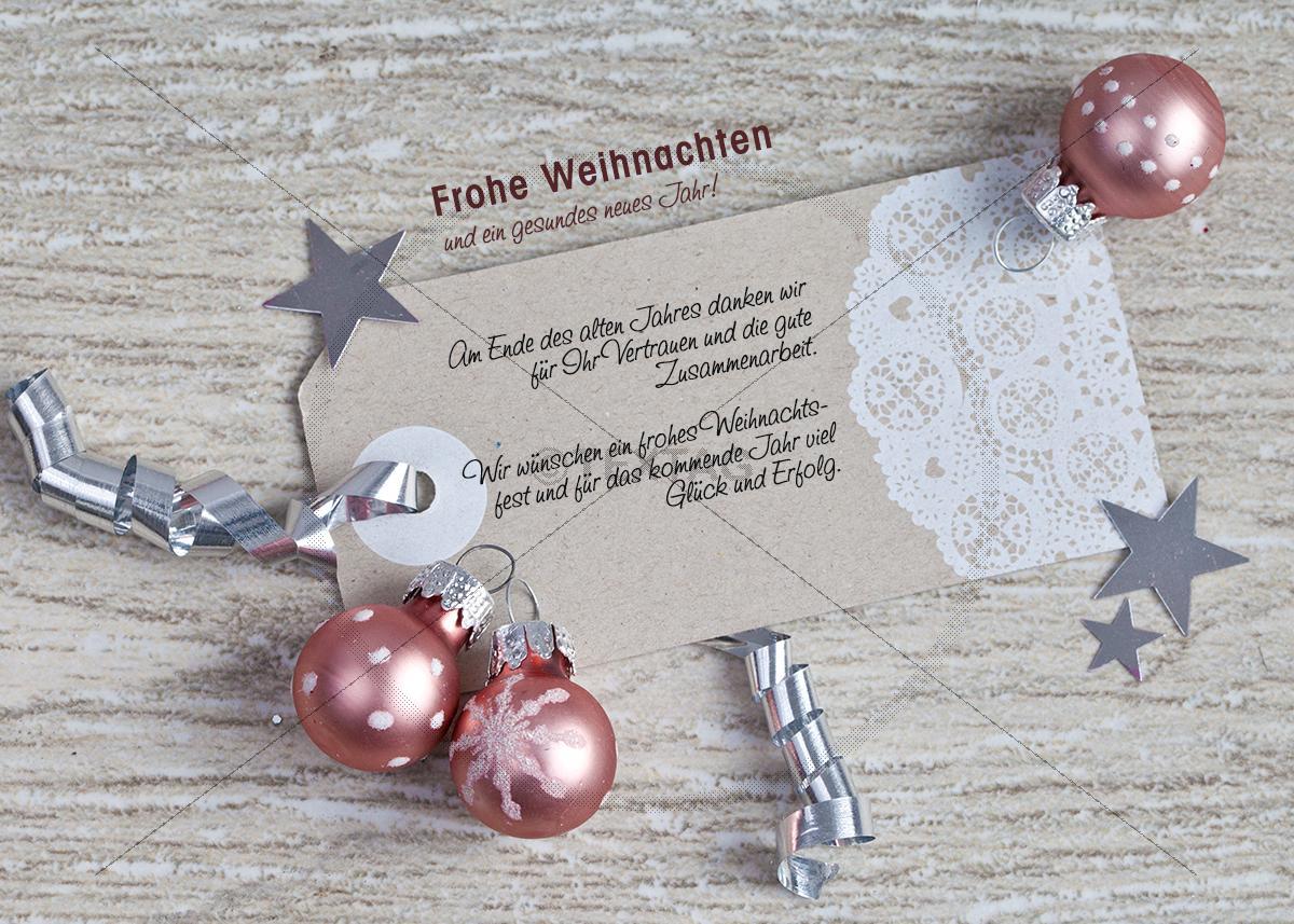 Nostalgische Weihnachtskarten Kaufen.Nostalgische Weihnachtskarte Für Kunden In Silber Rose E Card 280