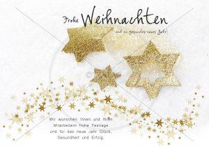 extravagante Weihnachtskarte in gold • E-Card elektronische Weihnachtskarten für Firmen