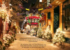 witzige Weihnachts E-Card mit Drohne • Grußkarten (284)