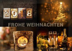 extravagante Weihnachts E-Card 2018 metallisch, bronze, gold (294)