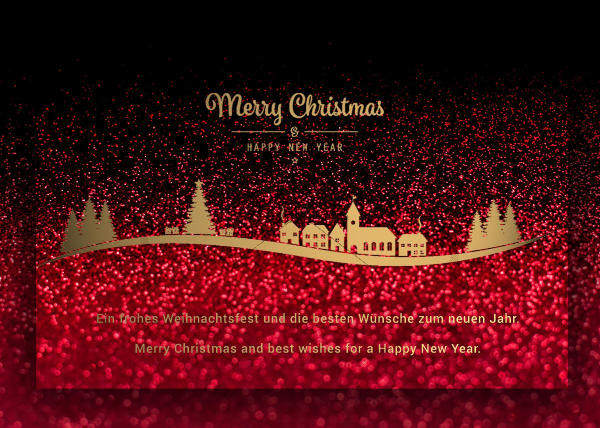 extravagante stylische weihnachts e card gesch ftlich. Black Bedroom Furniture Sets. Home Design Ideas