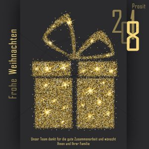 luxuriöse Weihnachts E-Card für Kunden NSL-2018-00222