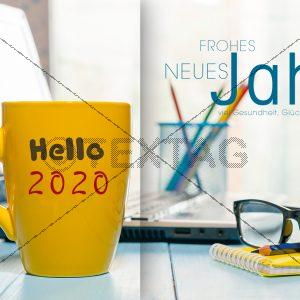 "lustige Neujahrs-E-Card ""Büro"" mit Kaffeetasse (272)"