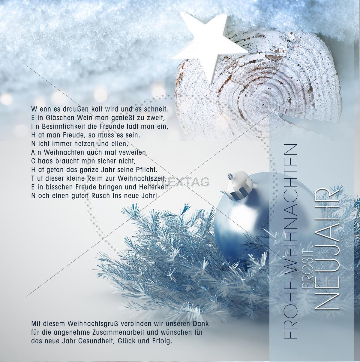 Relativ kreative Weihnachtsgrüße geschäftlich - ECard ohne Werbung mit Spruch WF59