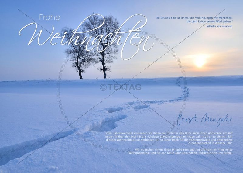 """geschäftliche Weihnachts E-Card """"romantische Winterlandschaft"""" (315)"""