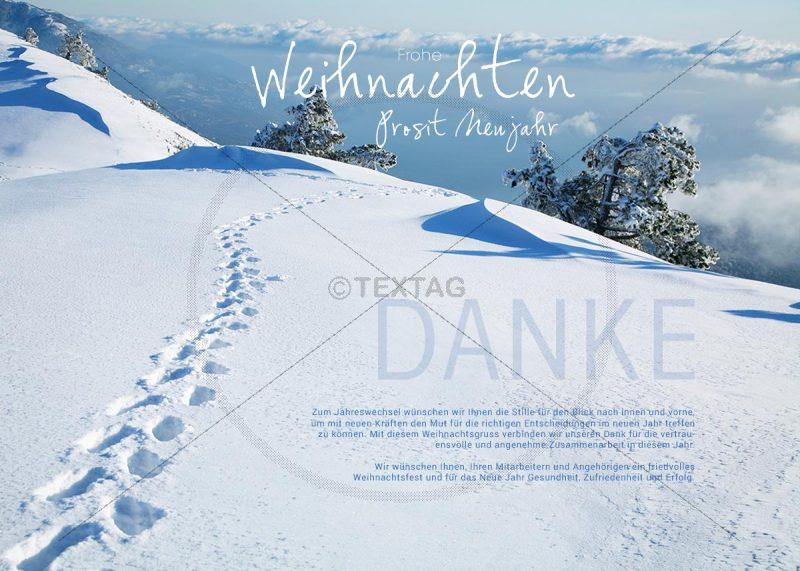 """virtuelle Weihnachts E-Card """"romantische Winterlandschaft"""" (319)"""