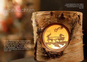 virtuelle Weihnachts E-Card mit Rentier Schlitten und Weihnachtsmann (320)