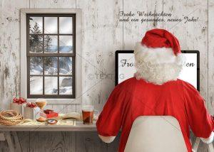 E-Card -Weihnachtsmann bei der Arbeit (331)