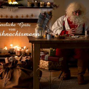 E-Card -Weihnachtsmann bei der Arbeit (335)