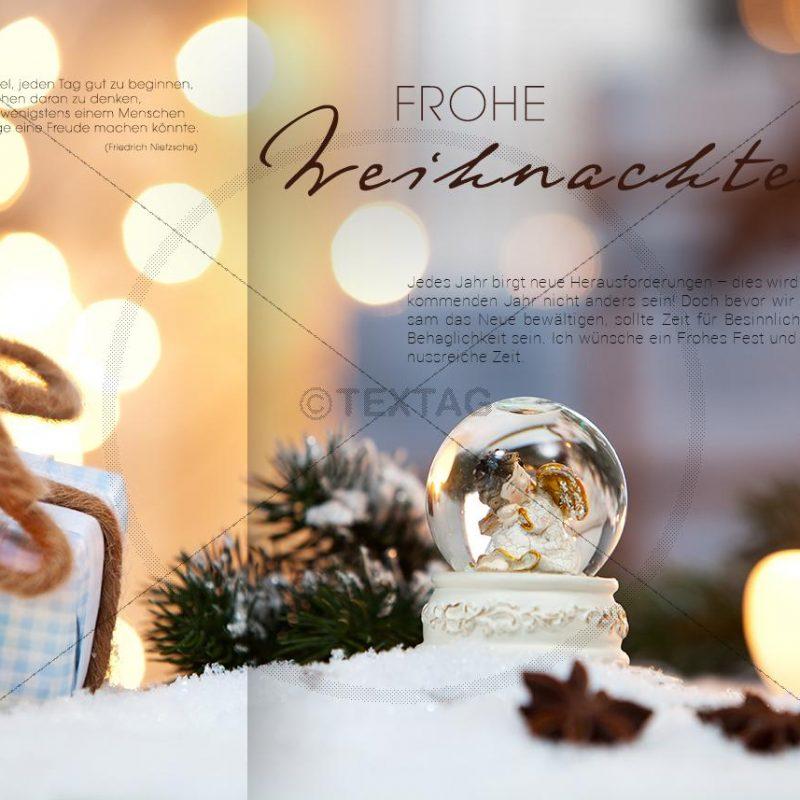 geschäftliche Weihnachts E-Card mit Engel und Spruch (345)