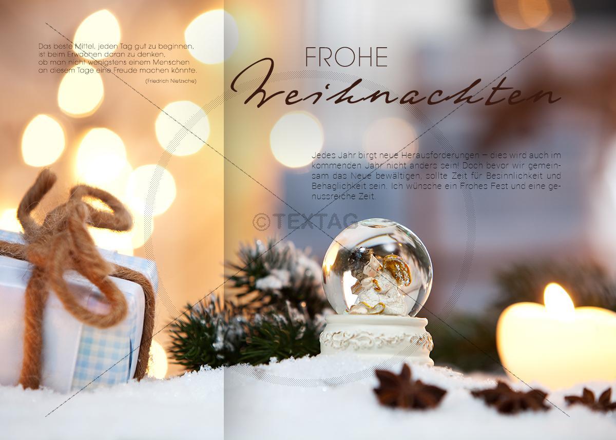 gesch ftliche weihnachts e card mit engel und spruch 345. Black Bedroom Furniture Sets. Home Design Ideas
