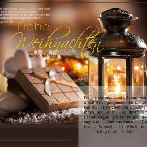 nostalgische Weihnachtskarte E-Card für Geschäftskunden (348)
