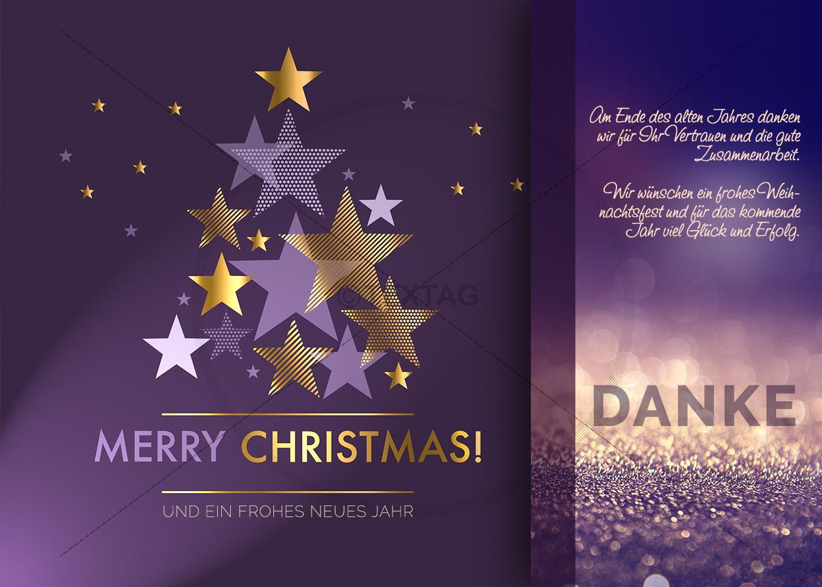 edle weihnachts und silvester e card in violett und gold. Black Bedroom Furniture Sets. Home Design Ideas