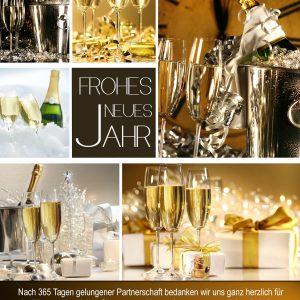 Werbungsfreie Silvester E-Card - Frohes neues Jahr (0121) NSL-2015-00122