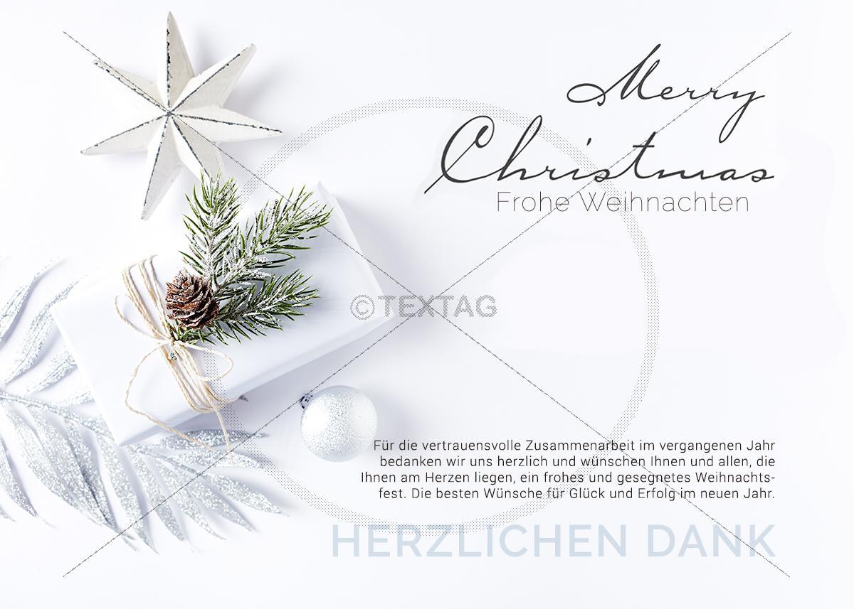Virtuelle Weihnachtskarten.Edle E Card In Weiß Elektronische Weihnachtskarte Für Firmen 0354