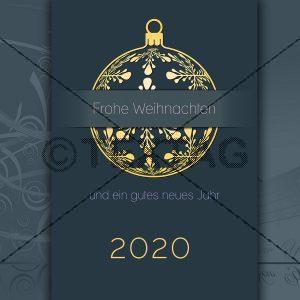 geschäftliche Weihnachts und Neujahrs eCard für Kunden (201)