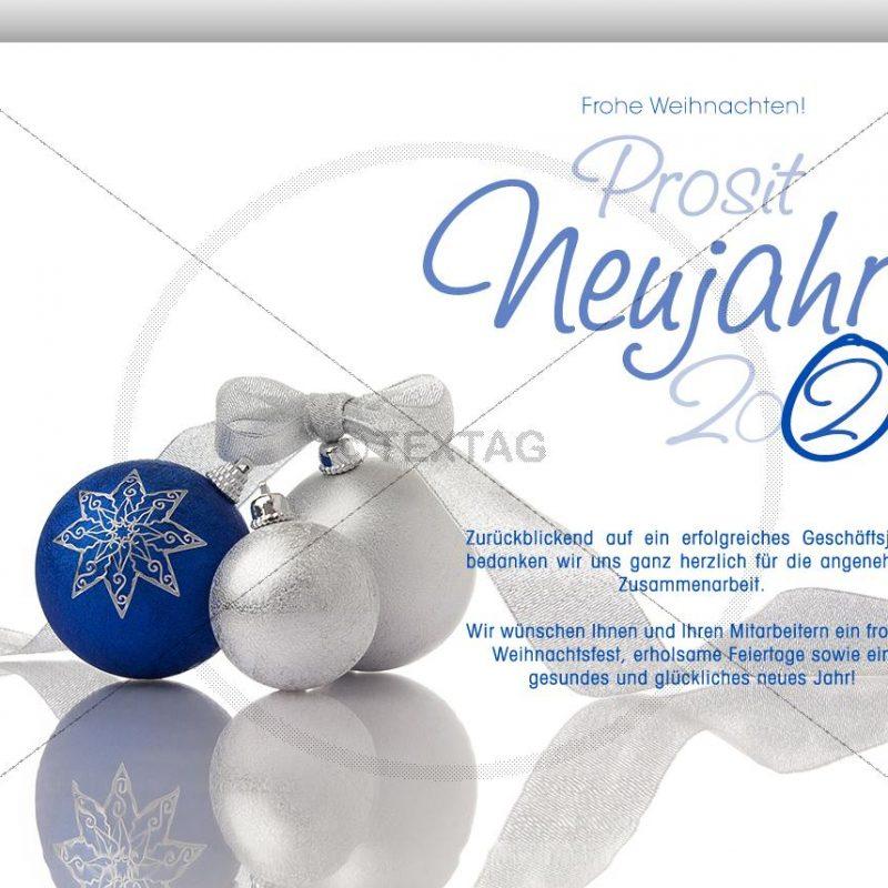 elegante Weihnachtskarte mit Weihnachtskugeln - eCard NSL-2019-00239