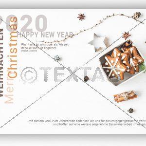 nostalgische Weihnachts und Slivester eCard für Firmen NSL-2019-00296