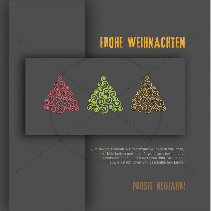 Abstrakte, geschäftliche Weihnachts eCard für Kunden (357)