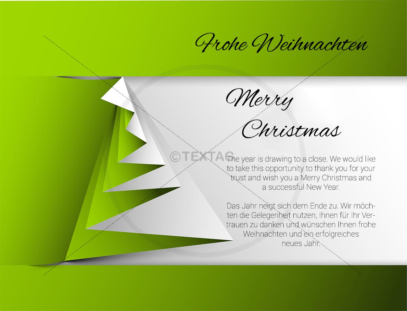 Geschaftliche Weihnachts Ecard Mit Spruch Deutsch Englisch