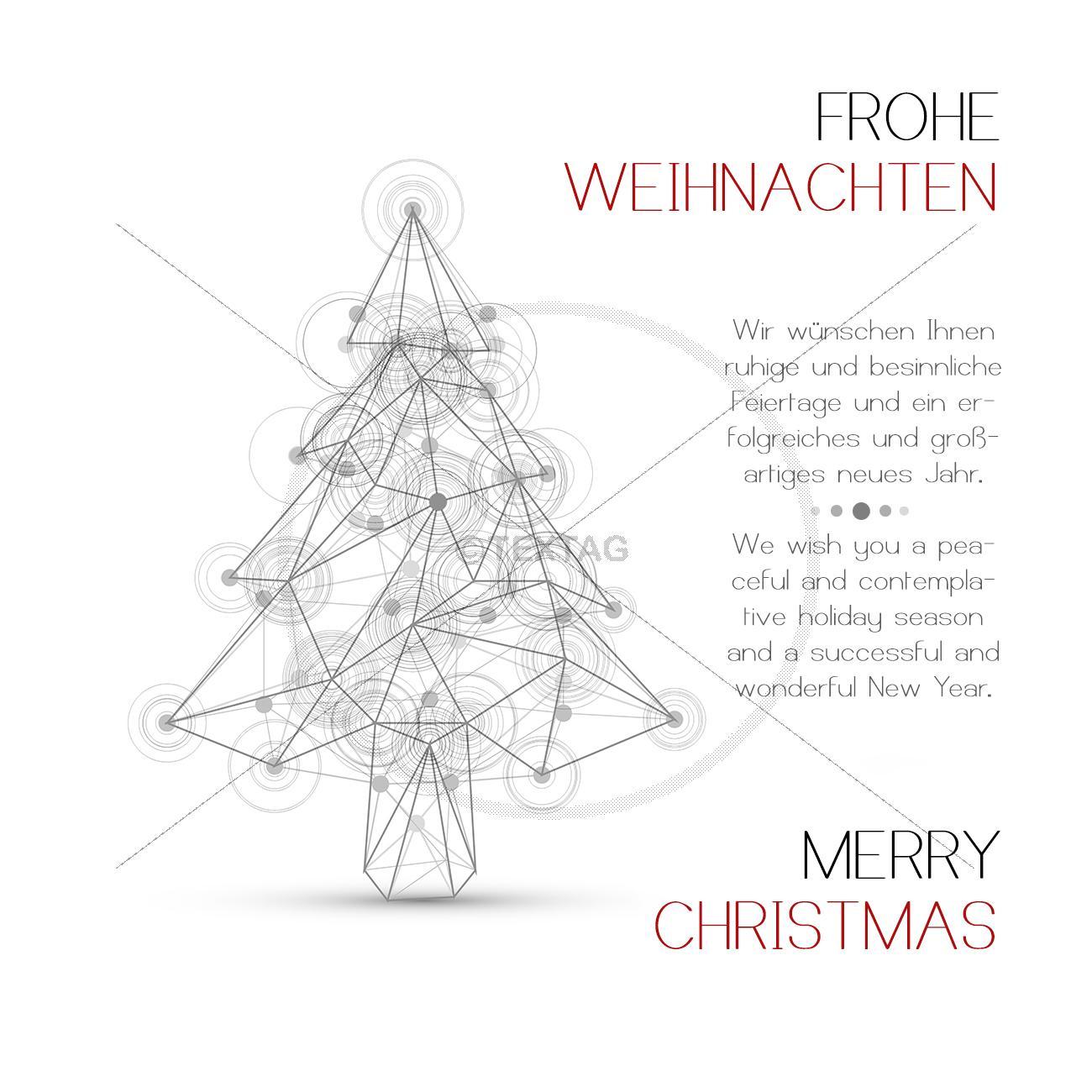 gesch ftliche weihnachts ecard mit spruch deutsch englisch. Black Bedroom Furniture Sets. Home Design Ideas