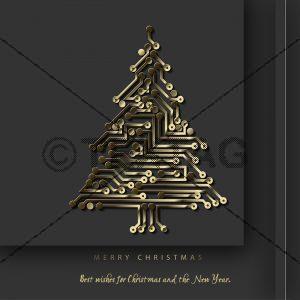 geschäftliche Weihnachts eCard in Schwarz und Gold (368)