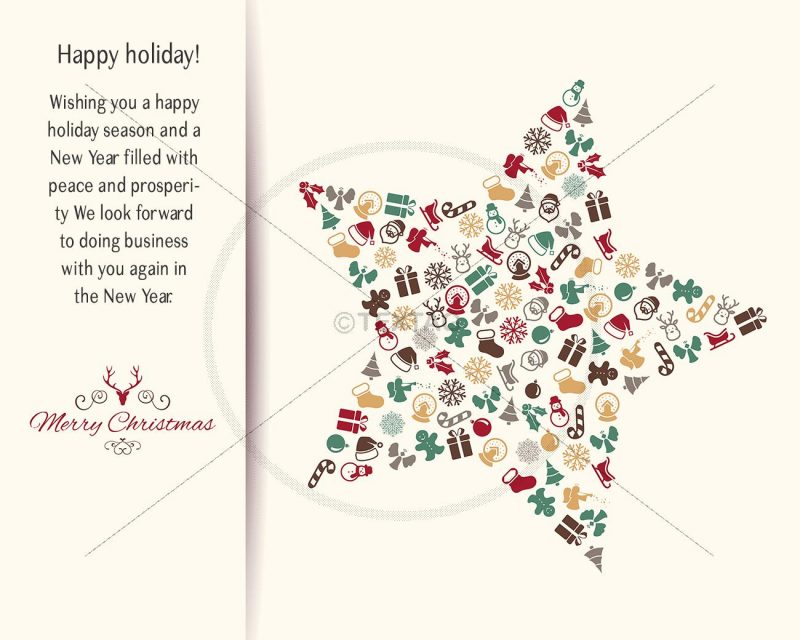 extravagante geschäftliche Weihnachts eCard, Spruch auf englisch (370)