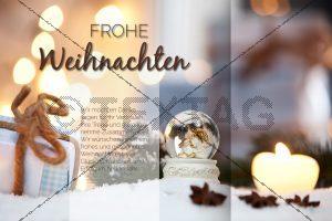 edle Weihnachts eCard, geschäftlich, ohne Werbung (377)
