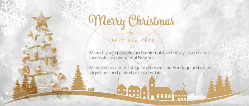 goldene Weihnachts eCard, geschäftlich, ohne Werbung (378)