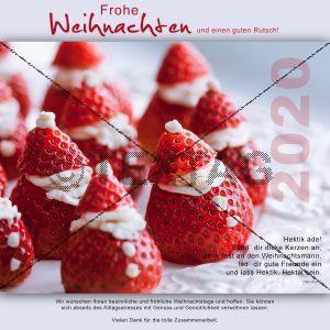 Erdbeer-Weihnachtsmänner Weihnachtskarte E-Card - Elektronische Weihnachtskarte (0108)